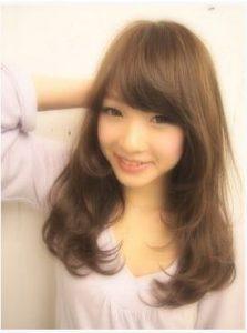 姫カット 巻髪
