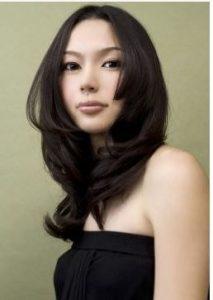 姫カット 黒髪