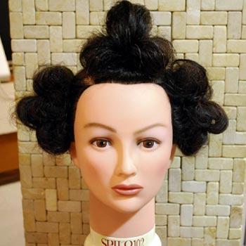 サザエさんの髪型作り方